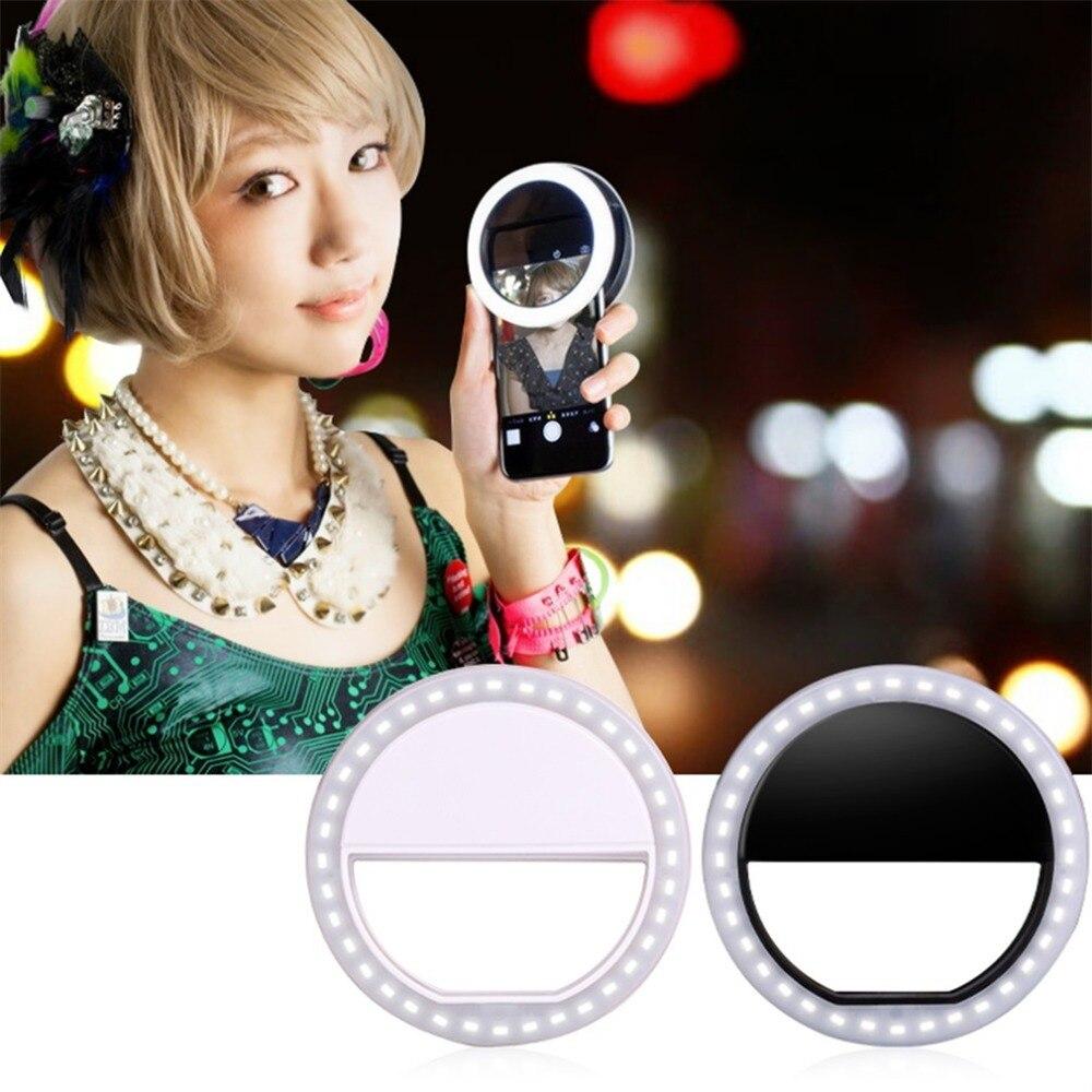 Universal Handy Clip Selfie FÜHRTE Auto-Für Iphone für android Runde Tragbare Selfie Taschenlampe Mini Kamera Taschenlampe