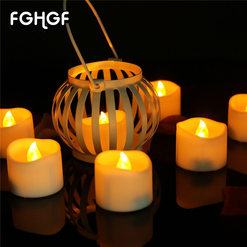 12 Pcs Battery Operated Led Lights For Decoration Simulated Flickering Led Pillar Candles Flickering For Home decoration