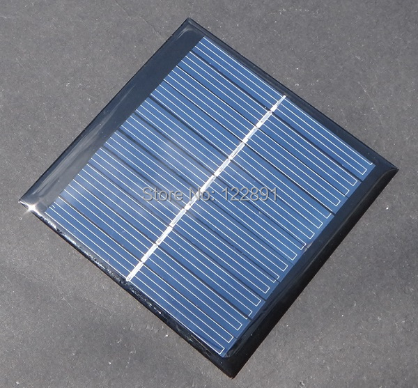 Mini Solar Cell 1W 5.5V Solar Panel For Battery Charger DIY Polycrystalline Solar Module 50pcs/lot Wholesale Free Shipping