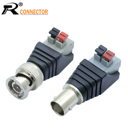 1set Male&Female Camera CCTV BNC male UTP Video Balun Connector Cable Adapter Plug Pressed connected for CCTV Systerm