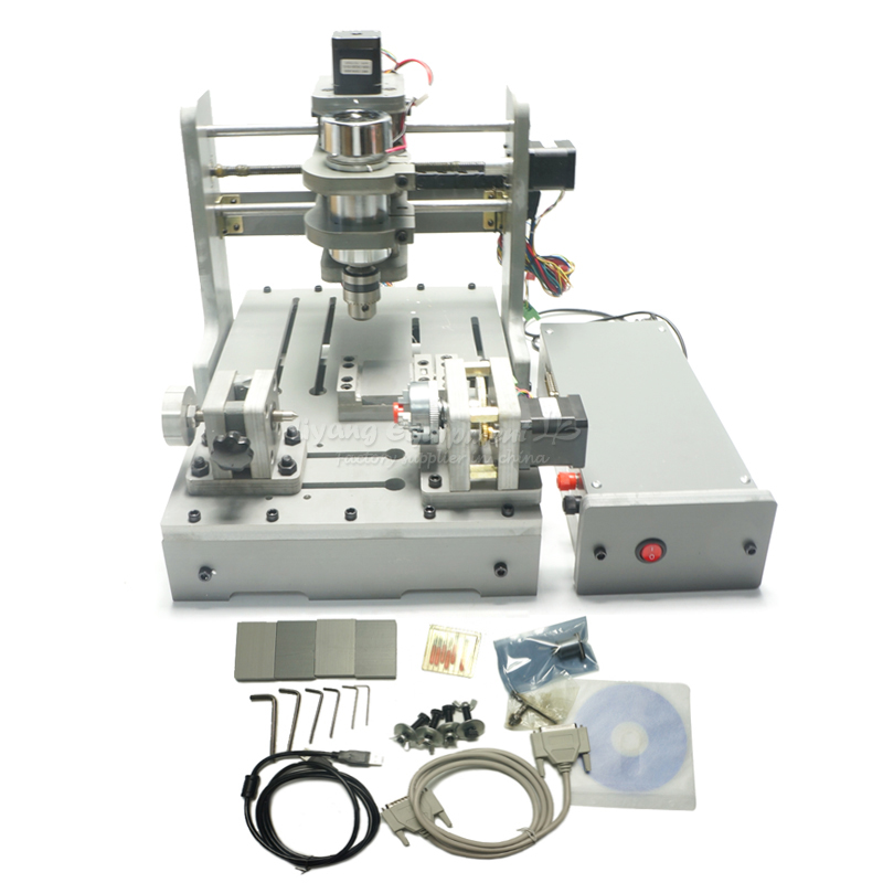 DIY 4 axis cnc router mini CNC milling machine free tax to Russia mini cnc milling router