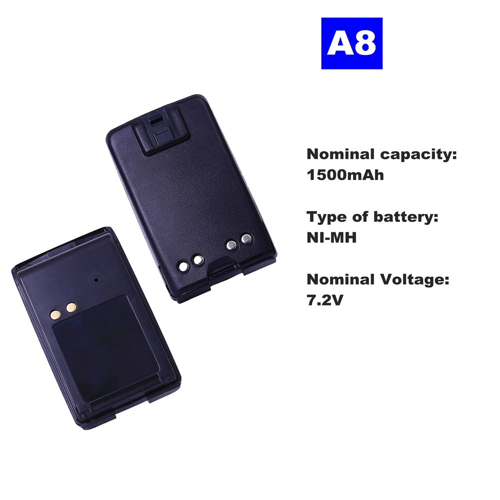 7.2V 1500mAh NI-MH Radio Battery A8 For Motorola Walkie Talkie A8 Two Way Radio