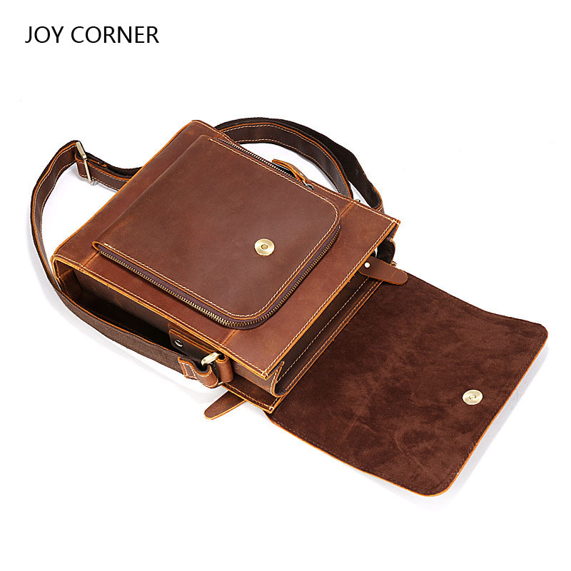 High Quality Vintage Fashion Mens Leather Document Bag Brand Casual Business Mens File Bag Office Supplies