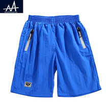 2017 Summer Solid Boys Shorts 7-14yrs Swimming Surf Children Beach Campaign Quick Drying Casual Sports
