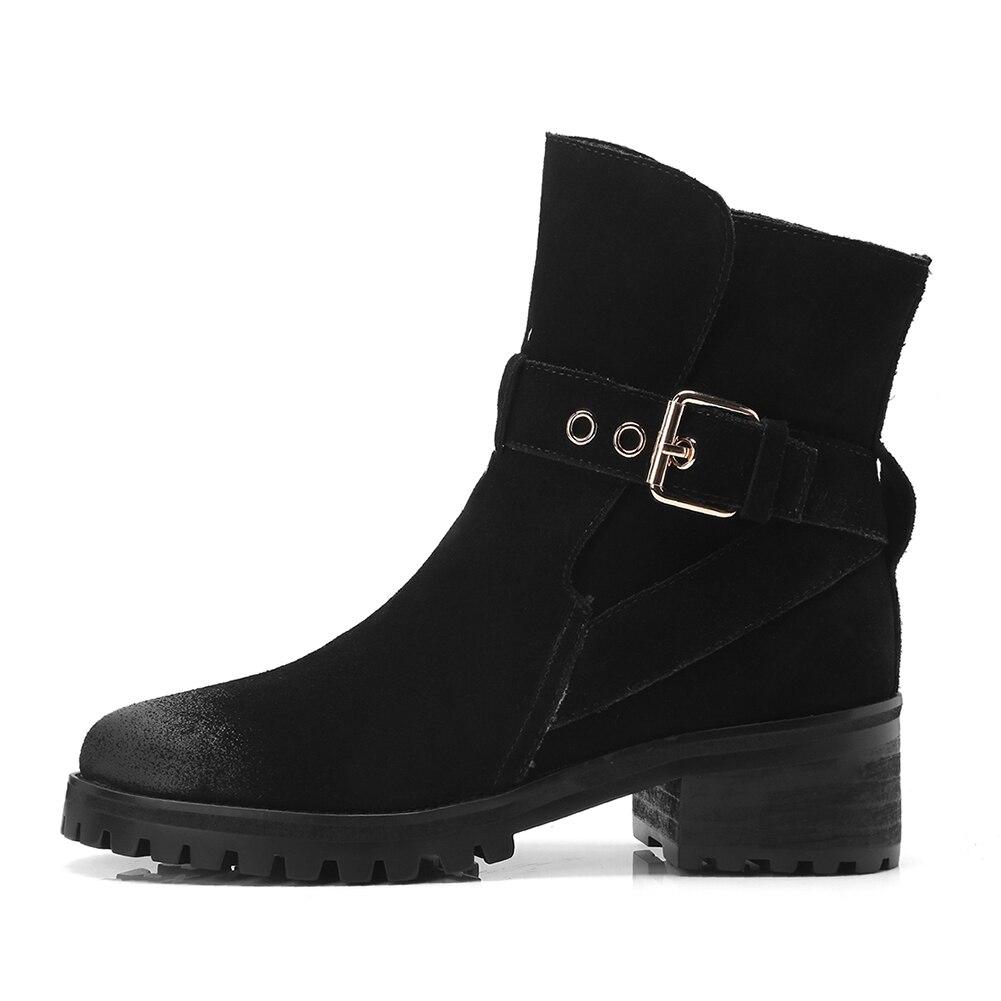 Offre Bottines brown Femme Boucle Western Black En Suédé 2018 Chaussures Fur Spéciale Fur Cuir Doratasia Without black Fur Vache With Décoration Bottes Femmes 0kXOnwPN8