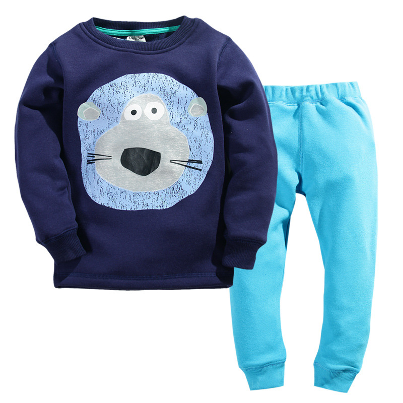 winter cartoon baby boys pajamas set long sleeve fleece lining pajamas sets warm kids sleepwear. Black Bedroom Furniture Sets. Home Design Ideas