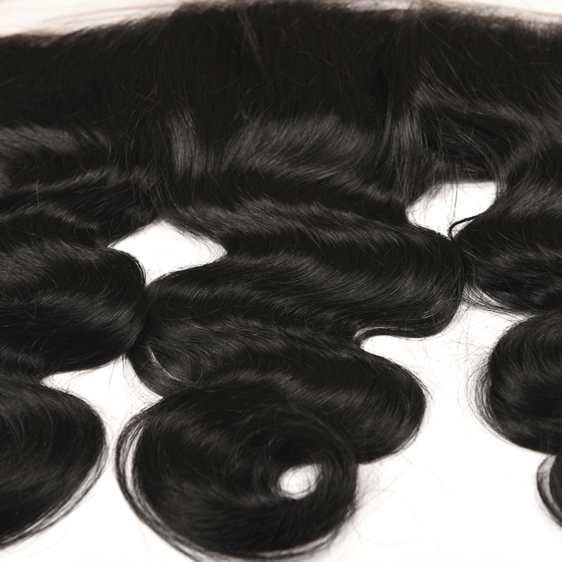 Lucky Queen Hair Products Brazilian Body Wave 13*4 Ear to Ear Pre-Plucked Lace Frontal Closure with Baby Hair Non-Remy Hair