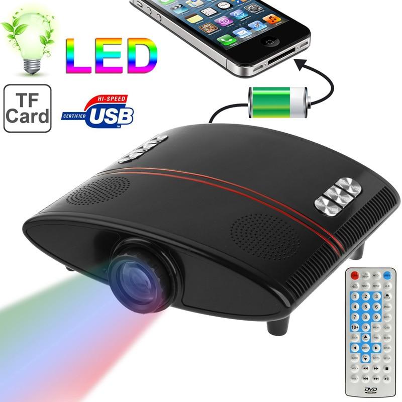 ФОТО Mini LED Projector HDMI HD Portable Proyector Video Projetor Beamer AV, USB, VGA Projektor Russian Language