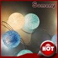 20 unids/set Luz de Hadas de La Boda Luces de Cadena Decoración Del Partido Colorido Deco Noel Azul Cielo Blanco de Navidad Flasher Balls
