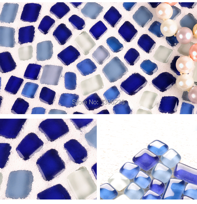 Free Style Navy Blue Crystal Glass Mosaic Wall tile for kitchen backsplash Bathroom backdrop swimming pool,Free shipping LSZYS05 commercial sea inflatable blue water slide with pool and arch for kids