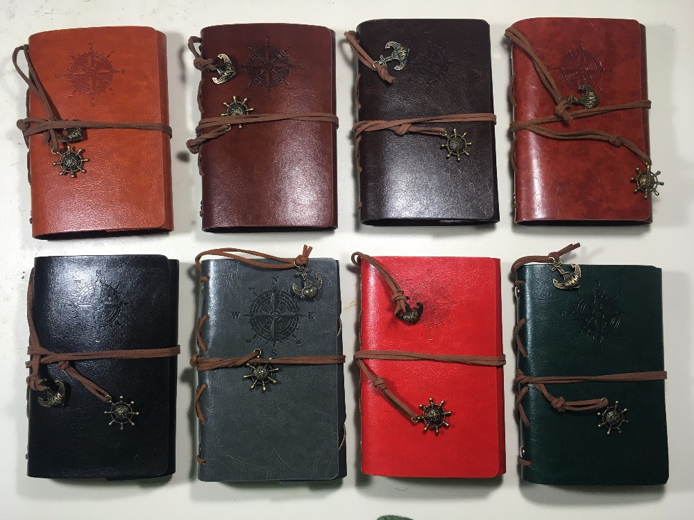 W-10cm*14.6cm vintage pirate cover travel journal 8 colors notebook(1piece)