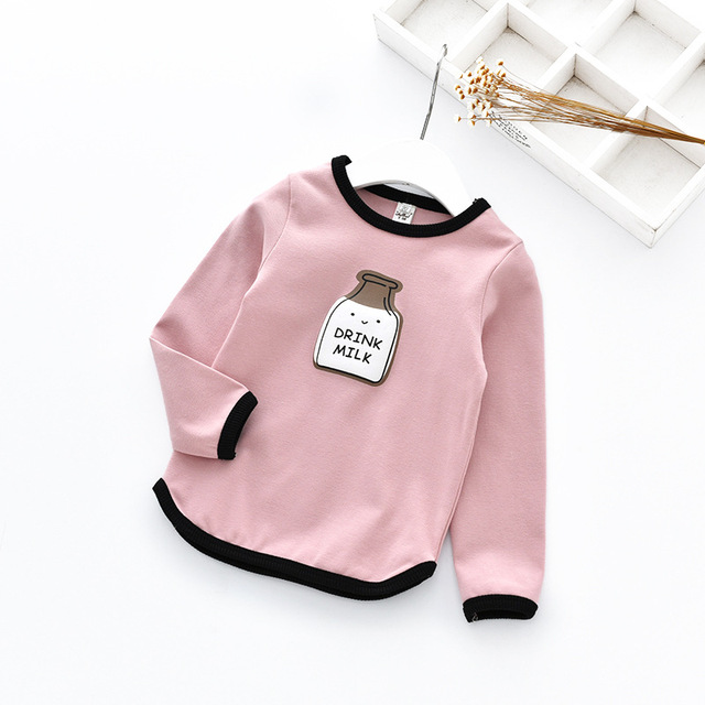 kids boys and girls T-shirts 2017 new spring children's baby girl full sleeve T shirt children clothes long sleeve O-neck tees