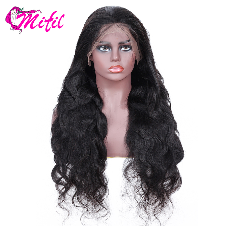 Mifil 13x4 Lace Front Human Hair Wigs for Black Women Remy Brazilian Hair Natural Color Body
