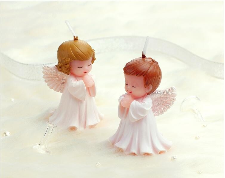 200pcs Wedding Favors and Gifts for guests Baby shower Birthday Party Angel Candles for cake Souvenirs decorations Supplies