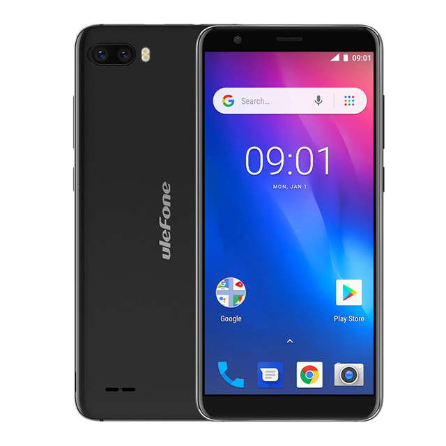 Ulefone S1 Android 8.1 Quad-Core SmartPhone 18:9 Full Display MT6580 8MP Dual Back Camera 1GB+8GB GPS Dual SIM 3G Mobile Phone