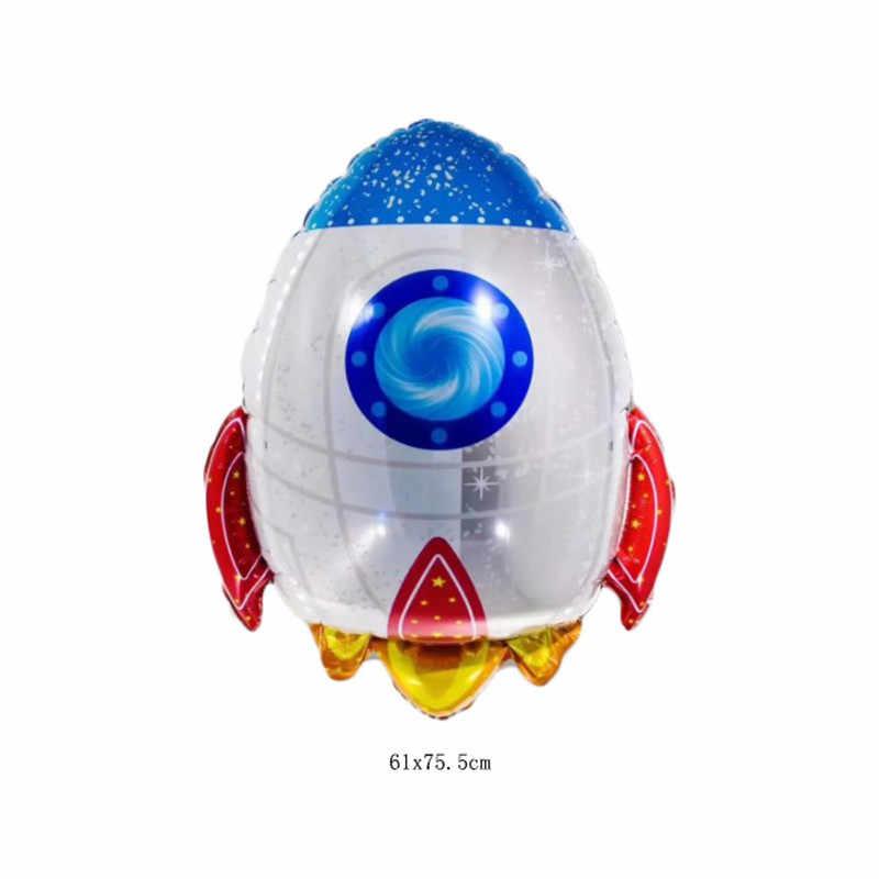 Вечерние воздушные шары из фольги с космонавтом, космический корабль, космический корабль, Галактика/Солнечная система, вечерние украшения для мальчиков, день рождения, вечеринки