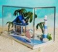 N002 Diy Doll House Miniature Model Building Kits 3D Handmade Wooden Lighting Dollhouse Furniture