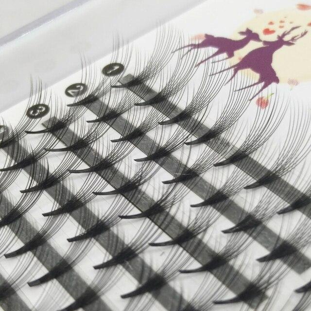 Grafting False Eyelashes Black Natural Long Professional Clusters Eyelash Extensions 10D Individual Volume Pro Made Fans