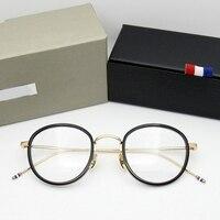 High quality round shaped Acetate TB905 glasses frame men Retro eyeglasses women myopia reading eyewear Oculos De Grau