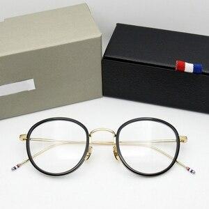 Image 1 - באיכות גבוהה עגול בצורת אצטט TB905 משקפיים מסגרת גברים רטרו משקפיים נשים קוצר ראיה קריאת eyewear Oculos דה גראו