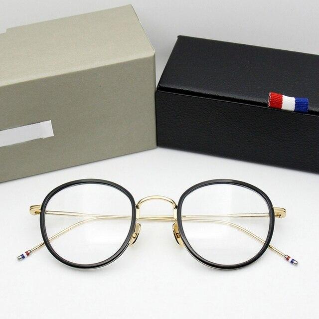 באיכות גבוהה עגול בצורת אצטט TB905 משקפיים מסגרת גברים רטרו משקפיים נשים קוצר ראיה קריאת eyewear Oculos דה גראו