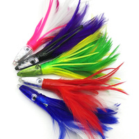 5PCS 14cm Mix Color Weighted Resin Head Sea Striker Tuna Wahoo Lure Sea Trolling Jigs Big