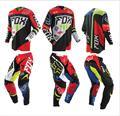 2016 series de estilo de carreras off-road trajes jersey ropa trajes MX sitio (off-road pantalones + camiseta) rojo