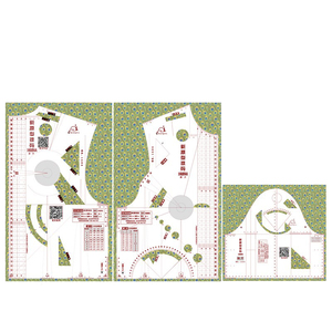 Image 3 - 1:1 تصميم عصري حاكم القماش تصميم مدرسة الطالب التقنية الملابس الرسم Templete الحكام نموذج الملابس