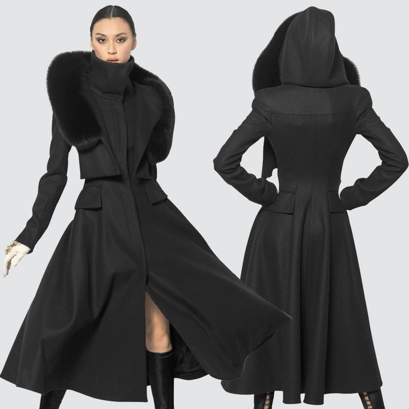 Long Black Winter Coats Ladies | Down Coat