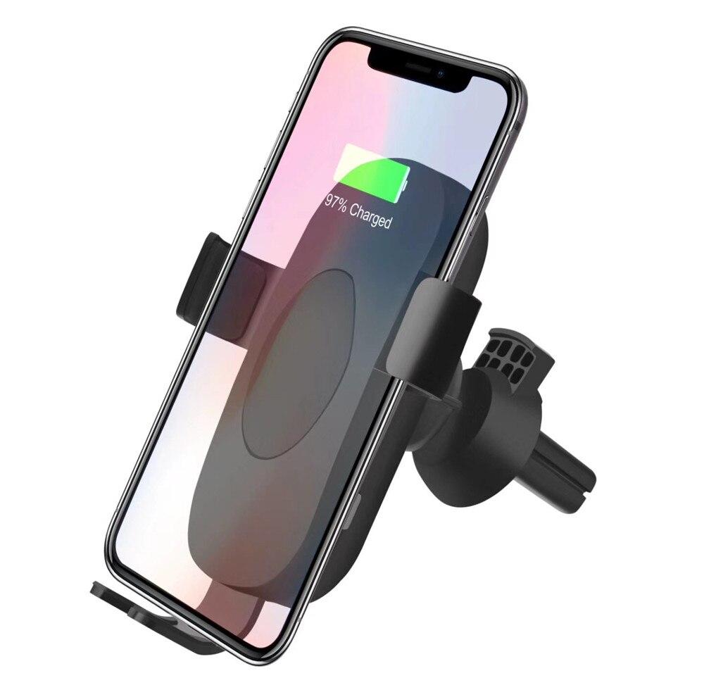 10 Вт тяжести автомобильный держатель автомобиля установлен QI Беспроводной Зарядное устройство Быстрая зарядка для Samsung Galaxy S9 плюс S8 Note8 для …