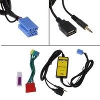 Araç MP3 Çalar Radyo Arayüz CD Changer USB SD AUX IN Için Audi A2 A4 A6 S6 A8 S8 8 P Oto Kablo Adaptörü Soket