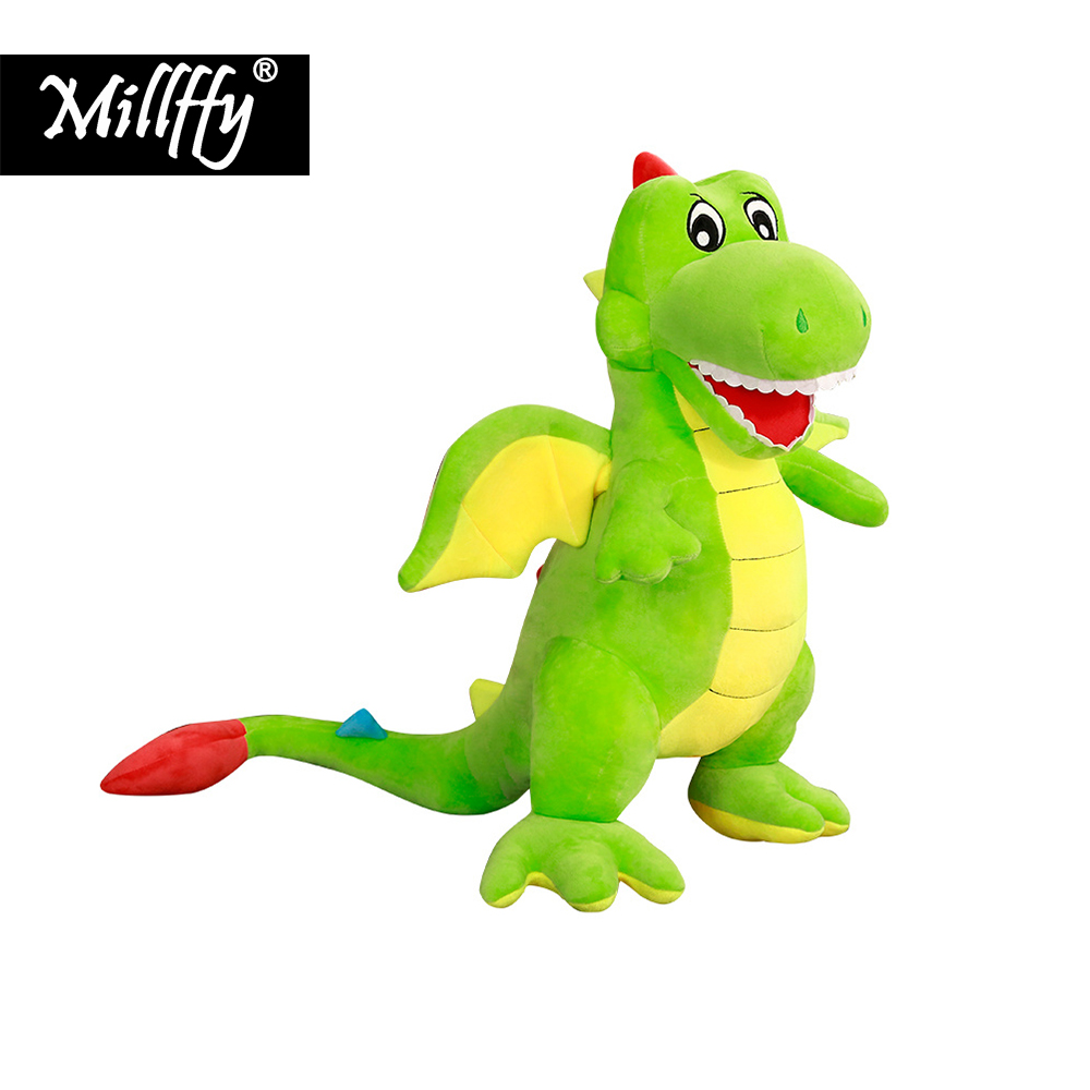 Dropshipping New Arrival Life Size Dinosaur Plush Toys Stuffed Animal Toy For Kids Boys Children Birthday Gifts Peluches In Animals From
