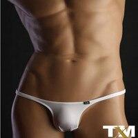 TM Bikini Sexy Gay Underwear Sexy Erotic Homens Thong Gay Men Underwear Mens Silk Thong Tm