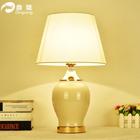 TUDA Free Shipping Decoration Ceramic Table Lamp American Country Style Ceramic Table Lamp Eye Protection Desk