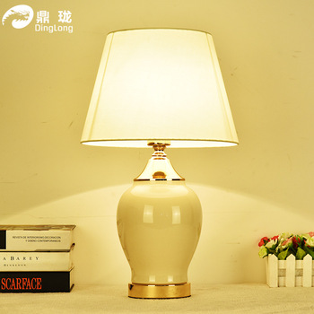 TUDA Free Shipping Decoration Ceramic Table Lamp American Country Style Ceramic Table Lamp Eye Protection Desk Lamp E27