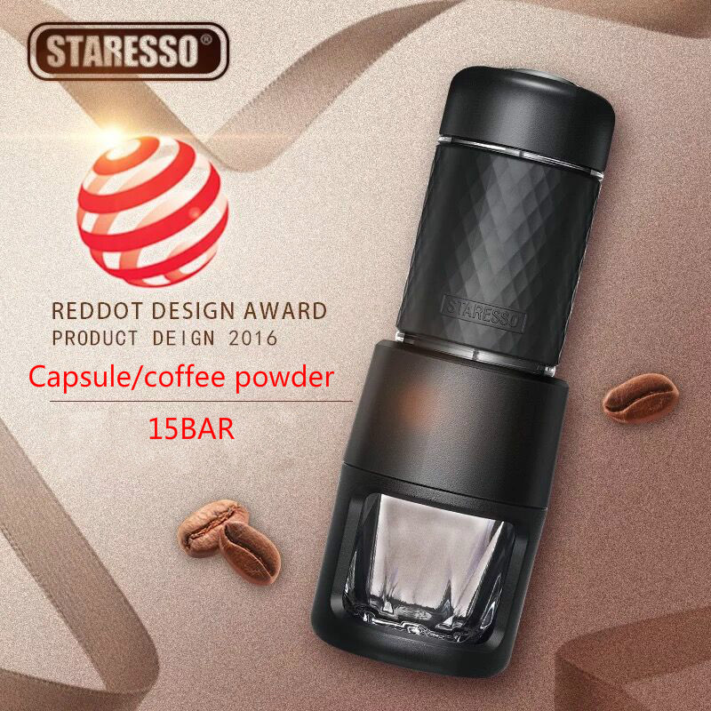 STARESSO Second generation 15BAR Italian Concentrate Coffee machine Manual Capsule/coffee powder Portable outdoor coffee pot цена 2017