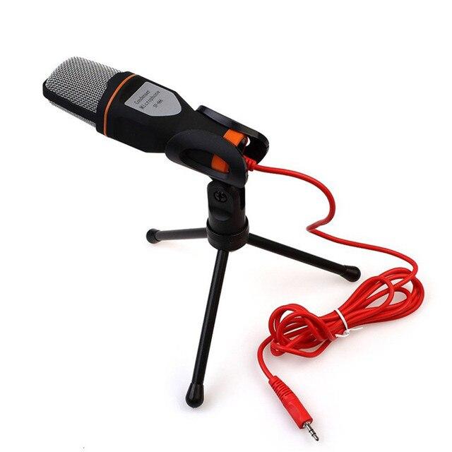 SF-666 Стерео Проводной конденсаторный микрофон С Подставкой Держатель Зажим Для ПК Чате Пение Караоке