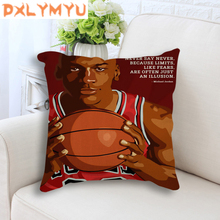Linen Cushion Cover Stan Lee Michael Jordan Lionel Messi Heisenberg Cartoon Posters Print Throw Pillow Case 45x45cm все цены