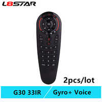 G30 remote control Air Mouse 2.4G motion sensing Gyro Voice Universal RF remote control IR Learning For PC smart Android TV Box