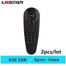 G30 afstandsbediening Air Mouse 2.4G motion sensing Gyro Voice Universele RF afstandsbediening IR Leren Voor PC smart android TV Box