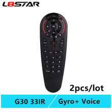 G30 remote control Air Mouse 2.4G motion sensing Gyro Voice Universal RF IR Learning For PC smart Android TV Box
