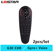 G30 remote control Air Mouse 2.4G motion sensing Gyro Voice Universal RF remote control IR Learning For PC smart Android TV Box(China)