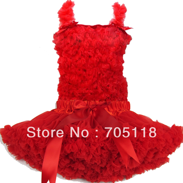 цена на Pure red lace top + skirt set,baby pettiskirt set,Girls Tutu Skirt set Girl aged 1-10 years old FREE SHIPPING