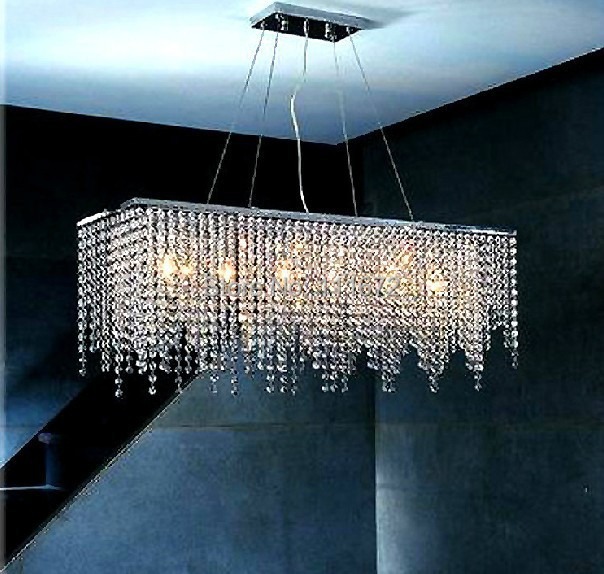 Free Shipping Modern Linear Crystal Light Re Dining Room Chandelier In Chandeliers From Lights Lighting On Aliexpress Alibaba Group