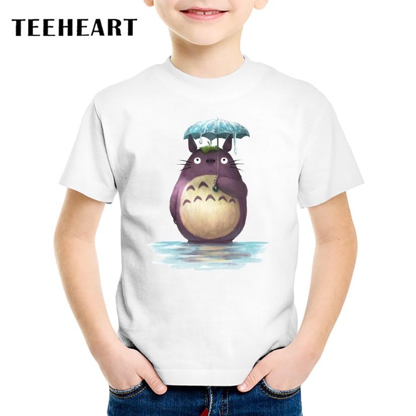 18M-10T My Neighbor Totoro Print Modal T shirt For Girl/Boy Animel T-Shirts for Children Baby Girls Clothing TA078