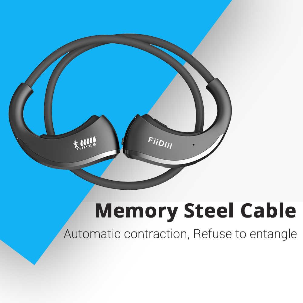 FiiDiil sportowe słuchawki bluetooth IPX5 wodoodporny bezprzewodowy zestaw słuchawkowy zaczep na ucho słuchawki Stereo Audio z mikrofonem