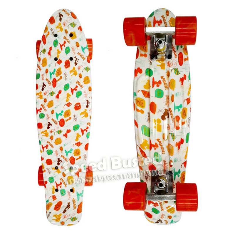 Free Shipping Floral Printed 22 Inch Peny Board Skateboard Complete Retro Girl Boy Cruiser Mini Longboard Skate Fish Long Board