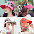Fashion Face Protection Sun  Hat  Summer Hats For Women Foldable Anti-UV Wide Big Brim Adjustable Women Hat Summer Free Shipping