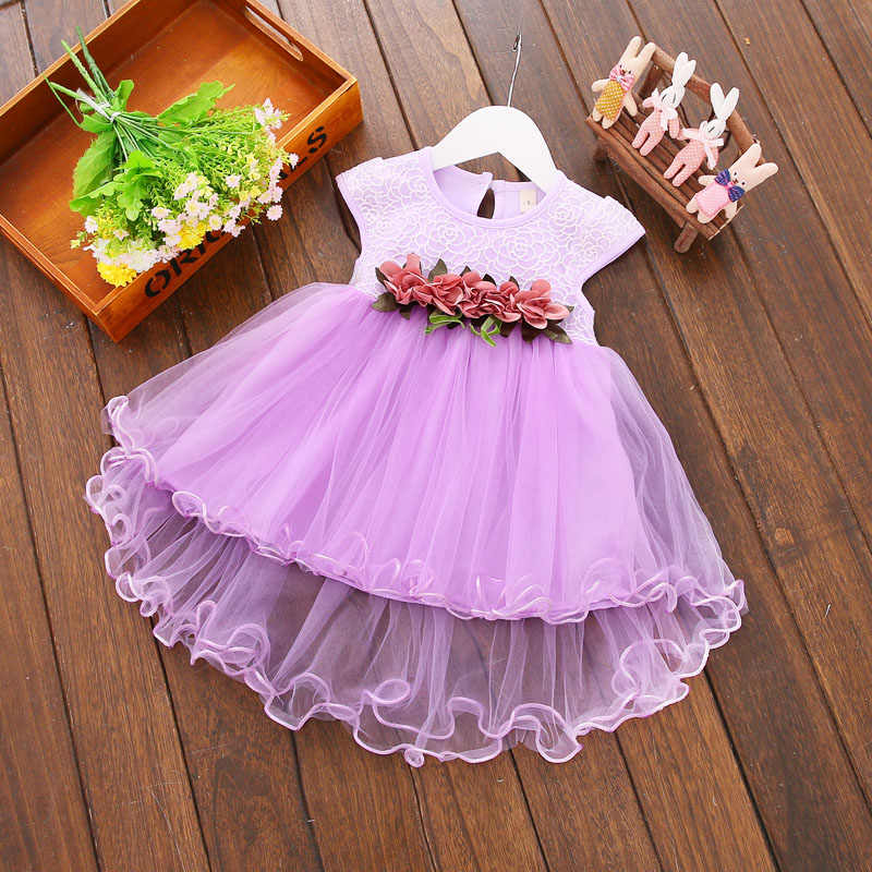 2017 Multi-style Super Cute Baby Girls Summer Floral Dress Princess Party Tulle Flower Dresses 0-3Y Clothing