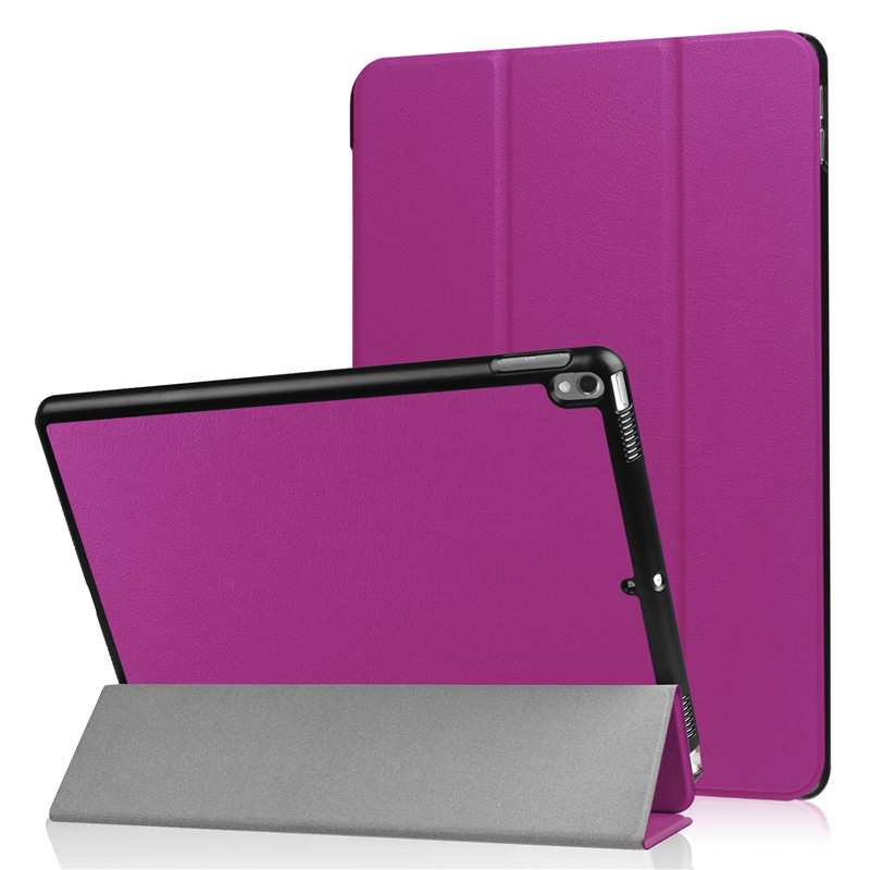Flip PU Leather Case Cover For Apple iPad Pro 10.5 Magnetic Ultra Thin Smart Stand Protective Skin Fundas For iPad Blue Purple lychee texture pu leather magnetic flip pouch protective case for ipad mini 2 3 white